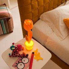 Tulip-T - Designer Einrichungszubehör aus Technopolymer, in verschiedenen Farben verfügbar, für den Außenbereich oder mit LED Beleuchtung