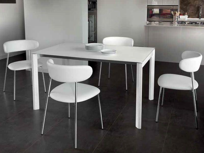 Web 140 l table domitalia en bois plateau en m lamin - Table 140 cm avec rallonge ...