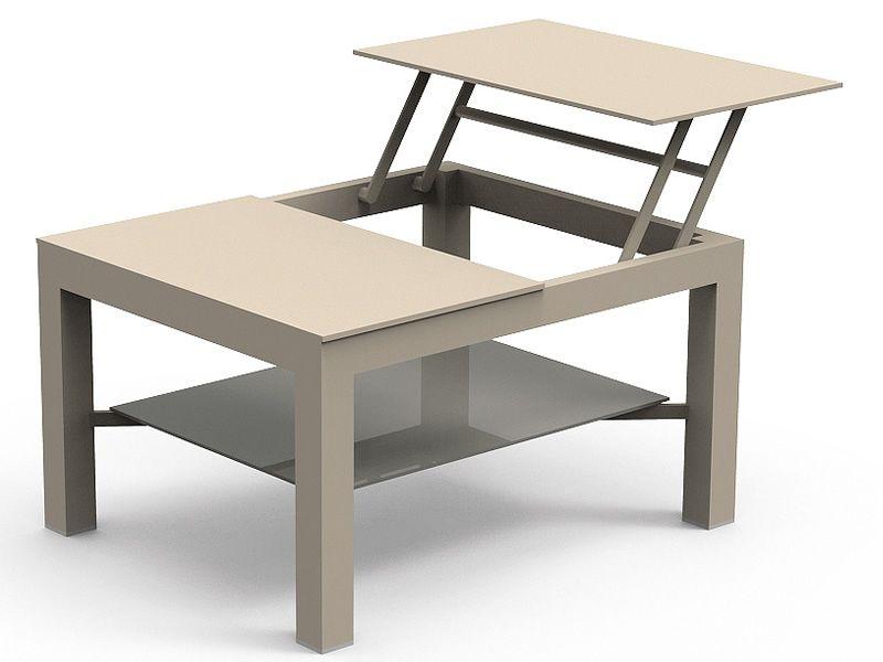 Chic t tavolino in alluminio disponibile in diverse misure per