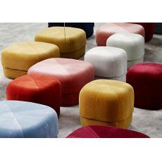 Circus - Pouf Normann Copenhagen mit Samt bezogen, in verschiedenen Farben und Abmessungen verfügbar