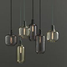 Amp - Lámpara de suspensión Normann Copenhagen de cristal y mármol, en distintos colores y medidas