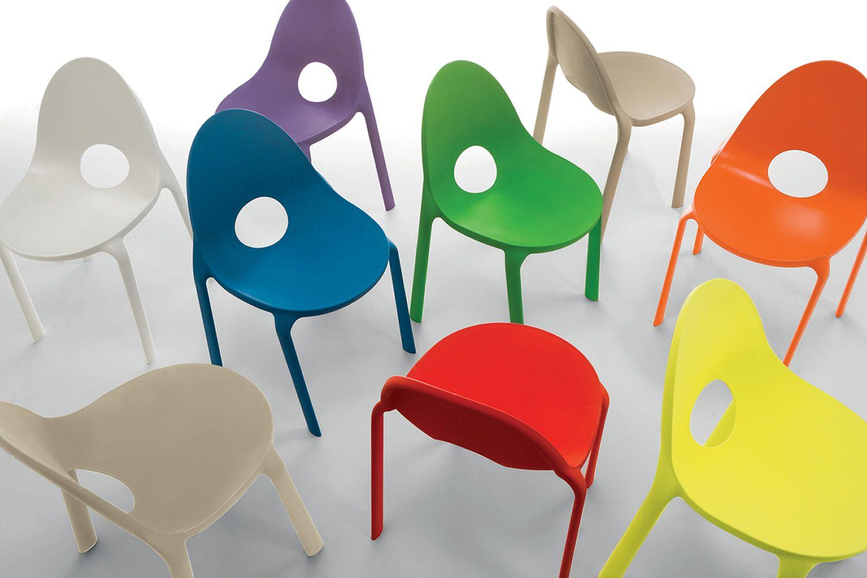 Drop   Design Polypropylene Chairs, Different Colours ...