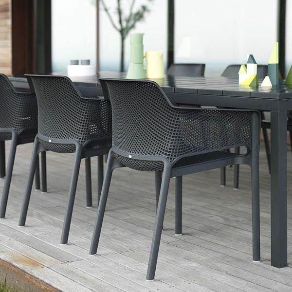 Rio tavolo allungabile in metallo piano in resina disponibile in diverse misure per giardino - Tavoli da balcone brico ...
