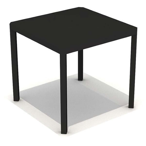 oblique table design en m tal carr e 80x80 cm diff rentes couleurs pour jardin sediarreda. Black Bedroom Furniture Sets. Home Design Ideas