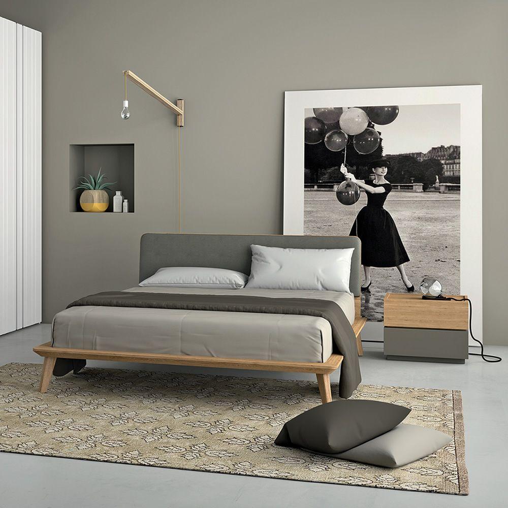 Charlie cama matrimonial dall 39 agnese con estructura de madera cabecero acolchado en distintos - Cabecero cama acolchado ...