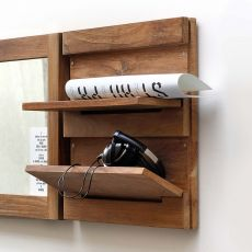 Utilitle-S - Ethnicraft wall unit made of wood, with folding shelves