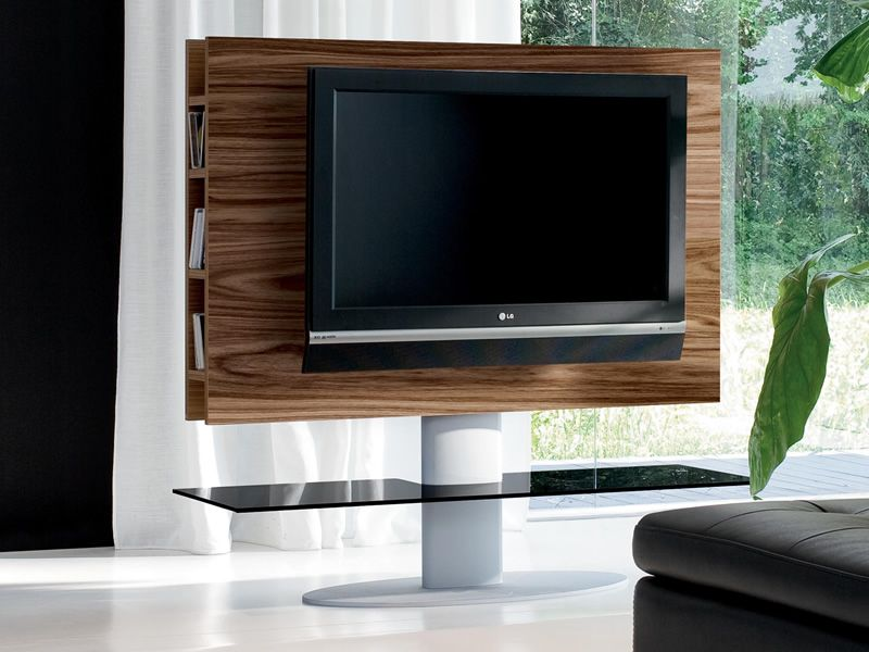 Cortes 7095 porta tv tonin casa in legno e metallo con for Porta tv in vetro