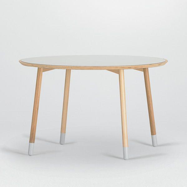 stick t feststehender tisch valsecchi aus holz mit platte aus laminat rund oder viereckig in. Black Bedroom Furniture Sets. Home Design Ideas