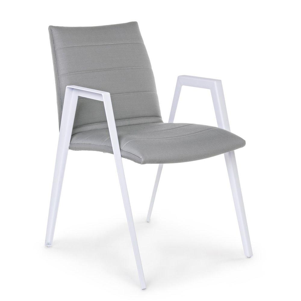 Roxa silla de aluminio con reposabrazos acolchado en quick dry foam para jard n sediarreda - Sillas de aluminio para jardin ...