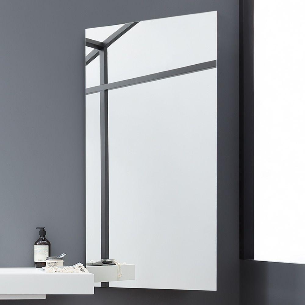 Side specchio rettangolare con mensole laterali - Mobiletto con specchio ...
