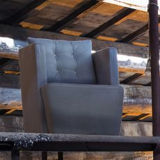 Artibella P - Modern armchair Domingo Salotti, available in fabric, leather or imitation leather, different colors