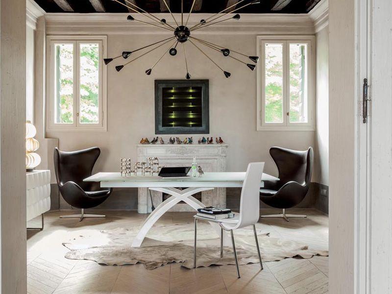 Tokyo-A 6951 - Tavolo allungabile Tonin Casa in agglomerato di marmo ...