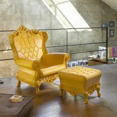 Queen of Love - Slide polyethylene armchair, also for garden, also with cushion