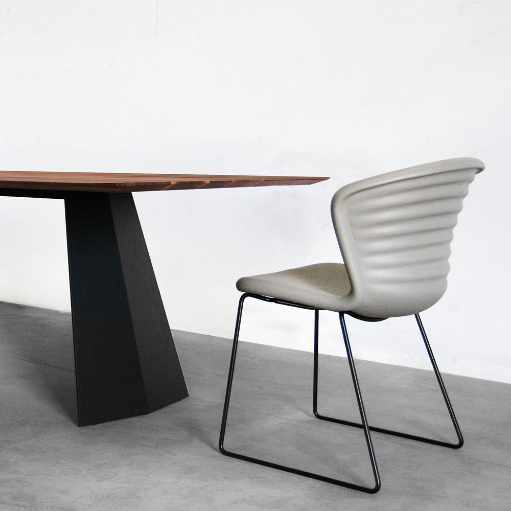 Schön Marshmallow   Stuhl Aus Metall, Mit Sitz Aus Polyurethan In Der Farbe  Sand Grau