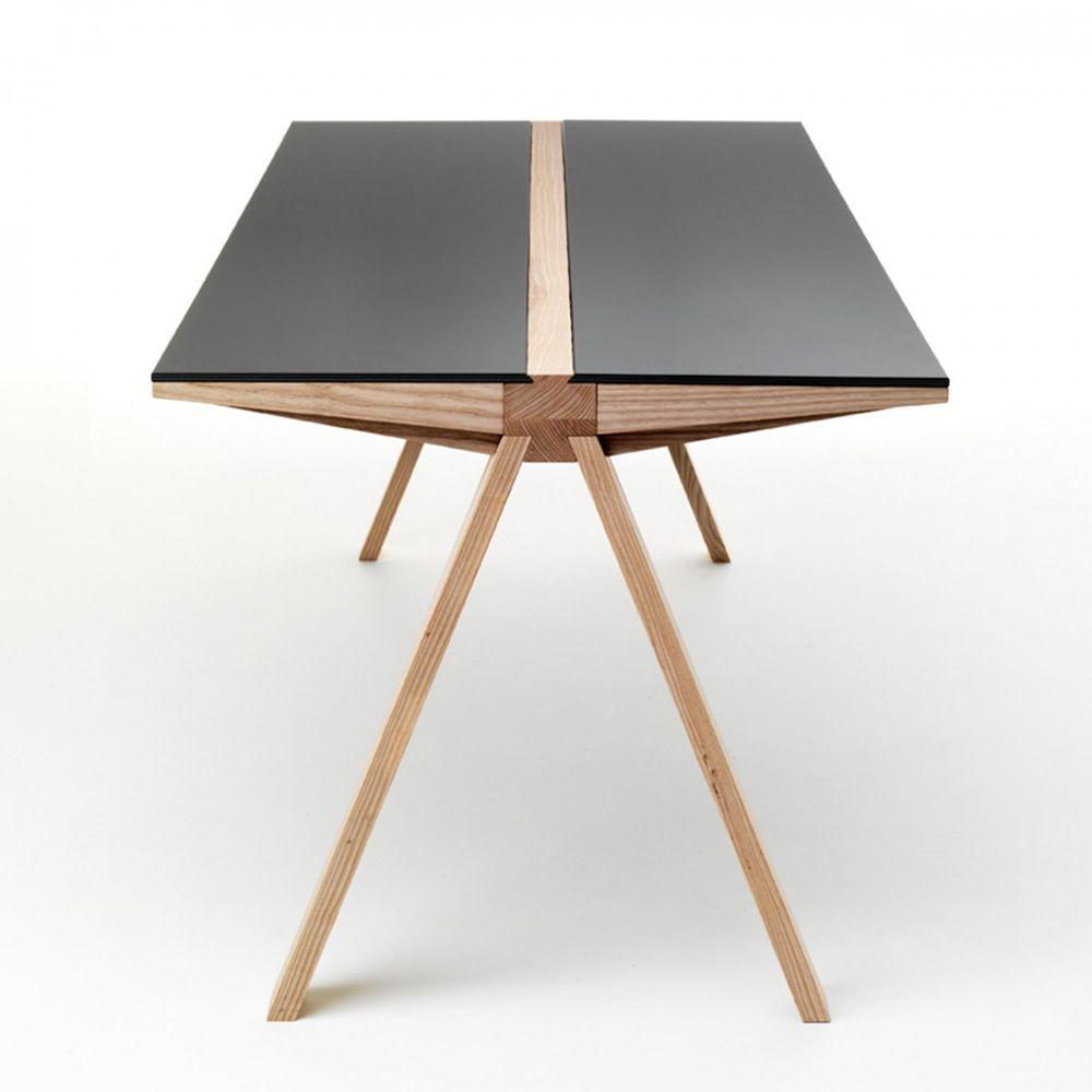 Traverso filo tavolo valsecchi in legno con piano in for Tavolo hpl