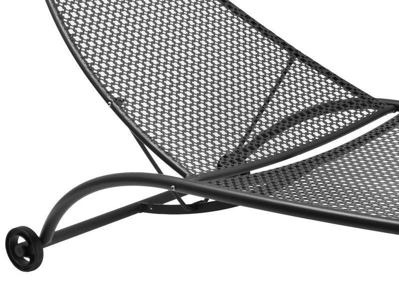 Vera l chaise longue emu en m tal pour jardin dossier inclinable sediarreda - Bain de soleil metal ...