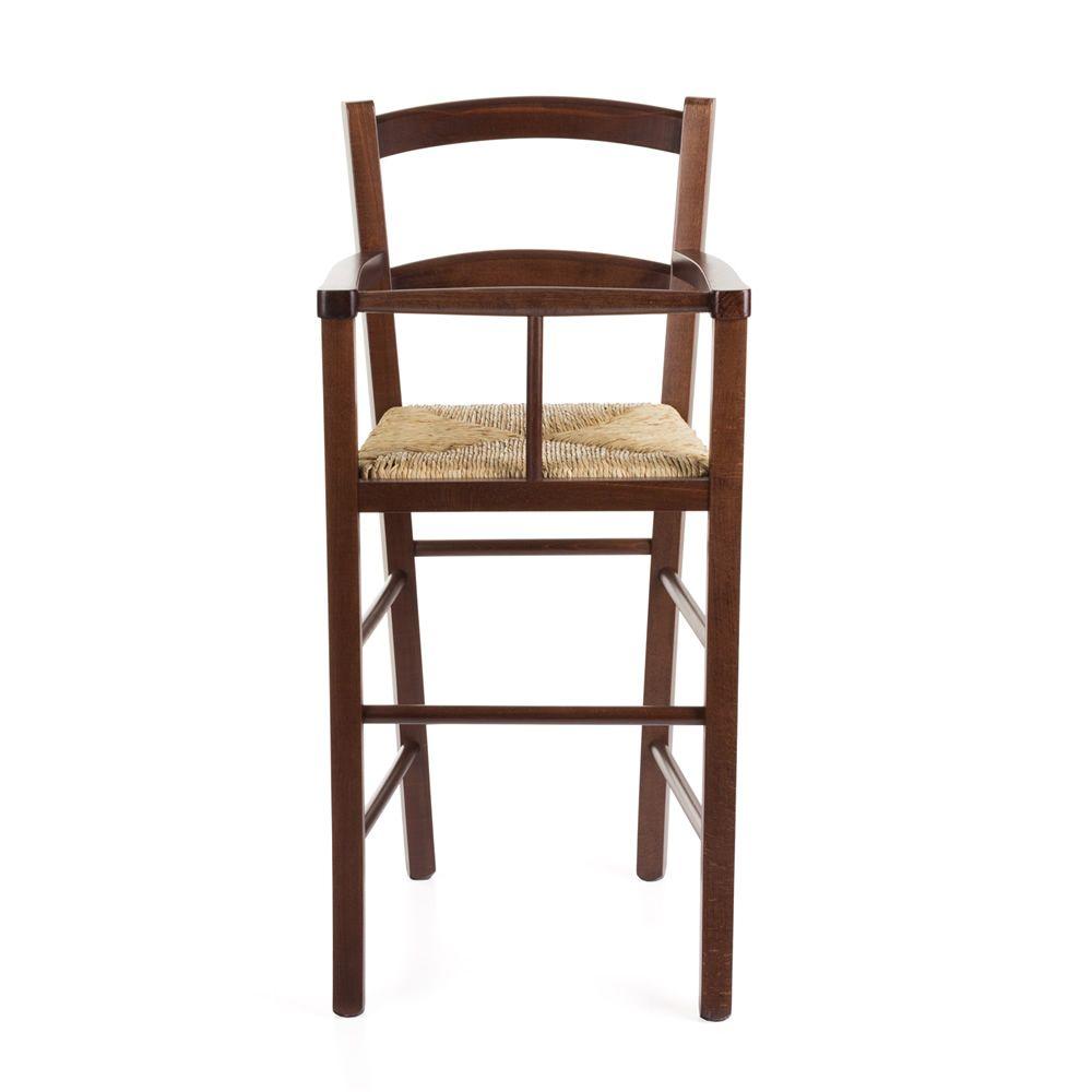 mu50 rustikaler kinderhochstuhl aus holz in verschiedenen farben verf gbar mit sitz aus. Black Bedroom Furniture Sets. Home Design Ideas
