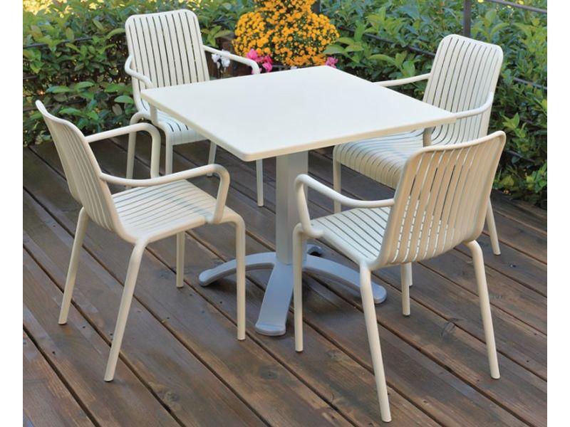 Open pour bars et restaurants chaise avec des accoudoirs for Restaurant dans un jardin