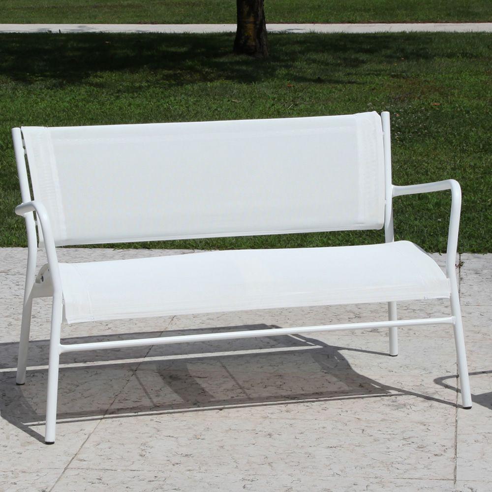 rig42dv canap de jardin 2 places en m tal et textil ne. Black Bedroom Furniture Sets. Home Design Ideas