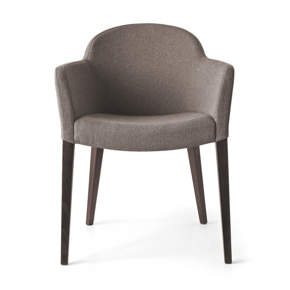 cb gossip promo connubia  calligaris wooden armchair with  -  cb gossip promo  armchair with beech wooden frame wengè finishand fabric covering