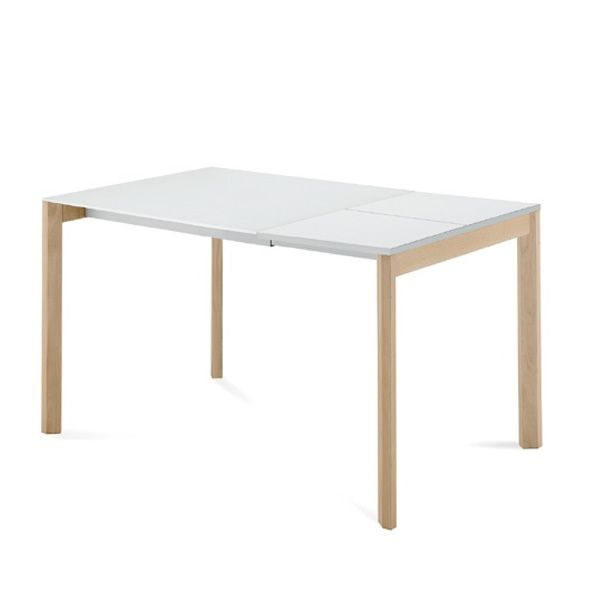 Web 90 l table domitalia en m tal plateau en m lamin ou - Table 90x90 avec rallonge ...