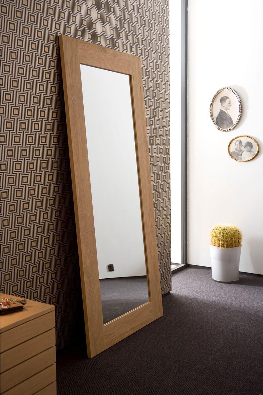 BF - Specchio Ethnicraft con cornice in legno, diverse ...