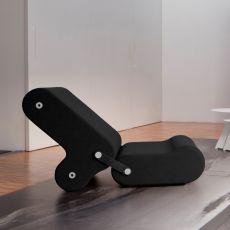 Multichair - Poltrona trasformabile di design B-Line, composta da due pezzi indipendenti, disponibile in diversi colori