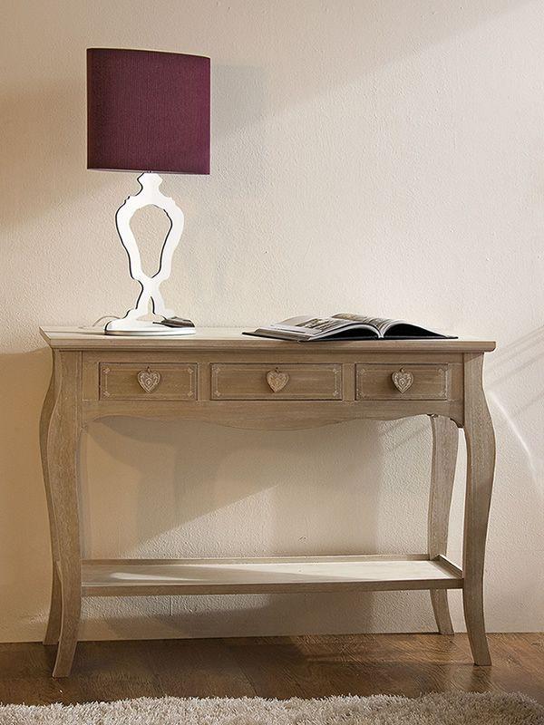 Ortigia console shabby chic en bois avec tiroirs sediarreda - Consoles avec tiroirs ...
