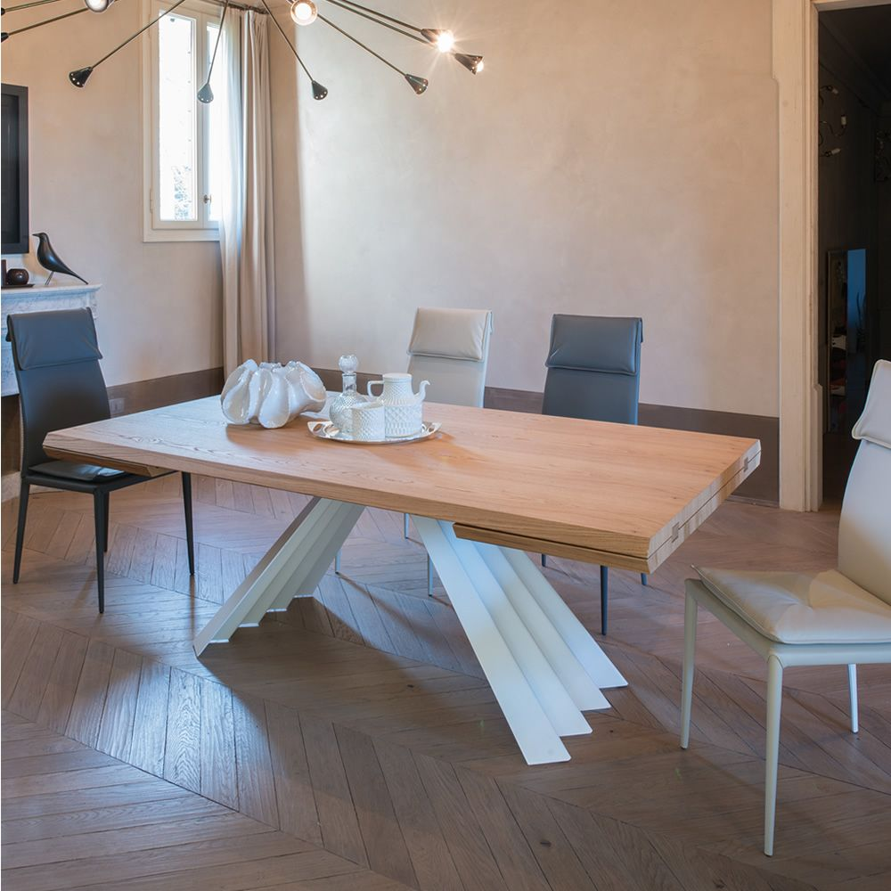 Ventaglio vl 8011 tavolo allungabile tonin casa in for Tavolo rovere allungabile