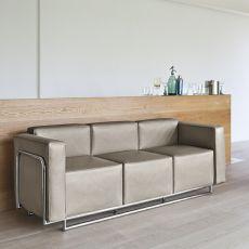 Cocktail 3P - Divano a 3 posti con struttura in metallo, disponibile in diversi rivestimenti e colori