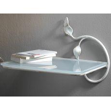 Anita - Hängender Nachttisch aus Eisen, mit Glasplatte, verschiedene Farben