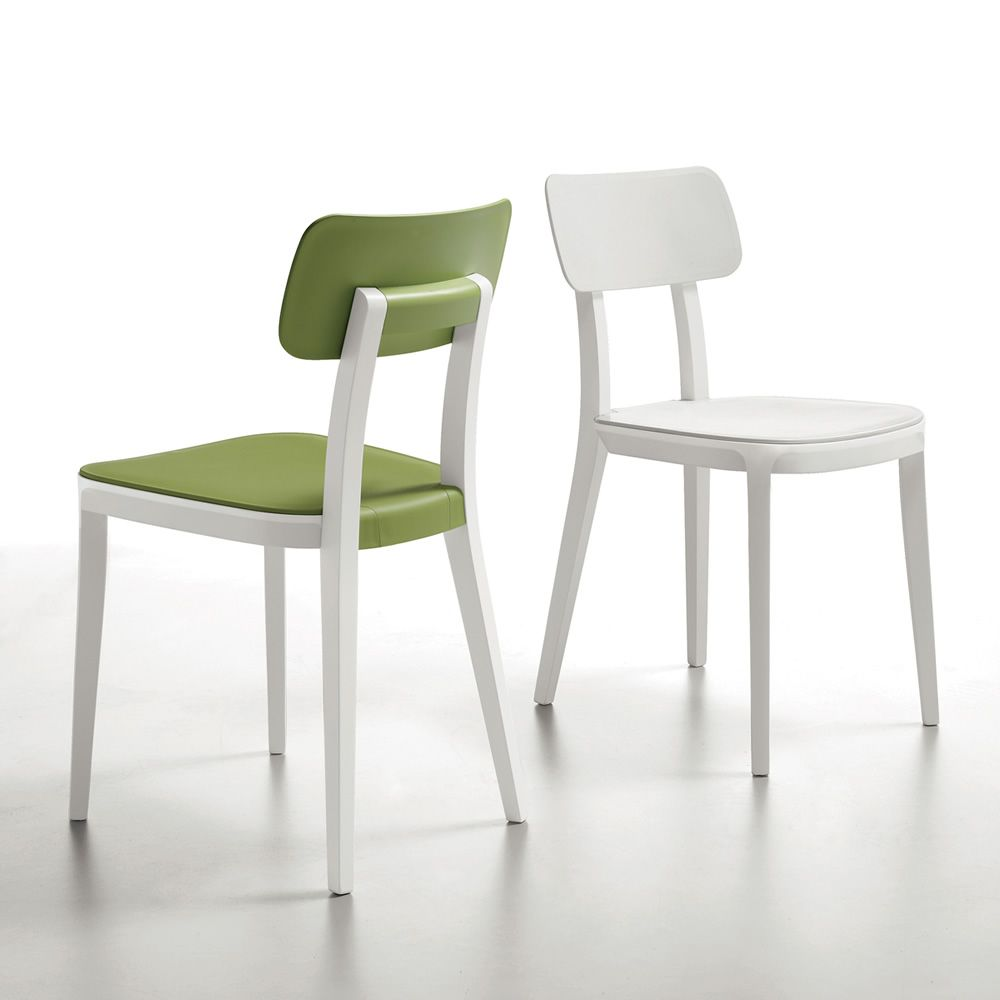 Porta venezia sedia infiniti in legno con seduta in for Offerta sedie legno