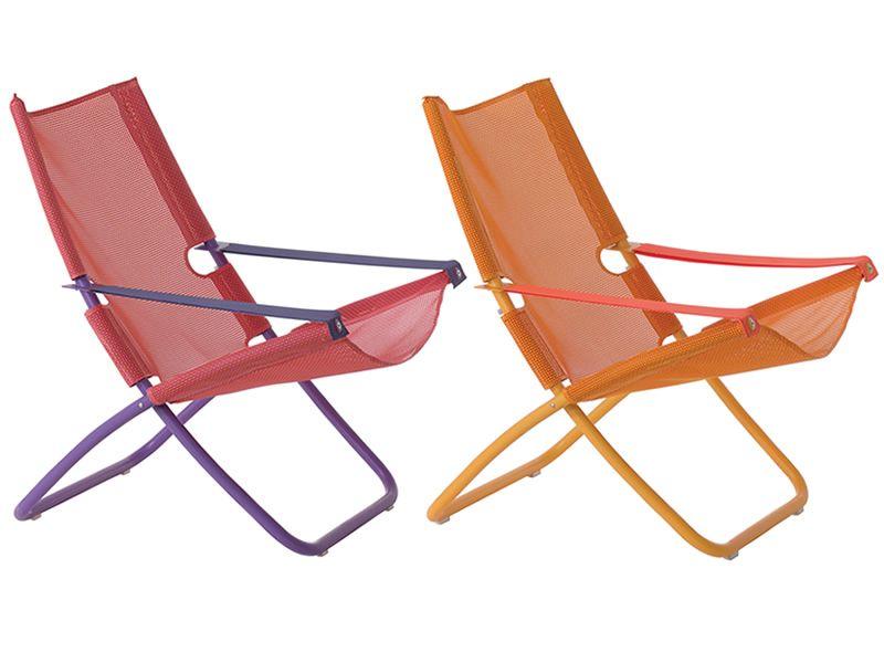 Liegestuhl Klappliegestuhl Metall Holz Oder Kunststoff ~   in Rot Himbeere oder mit Gestell und Net beide in der Farbe Pfirsich