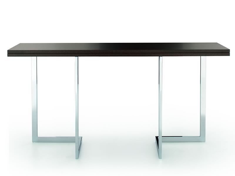 Afrodite Transformable Console In Dining Table With Steel Structure And Wooden Top Different
