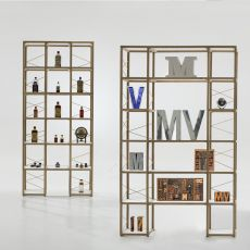Zia Babele Ca - Modular design bookcase , in natural oak wood, available in different sizes and compositions