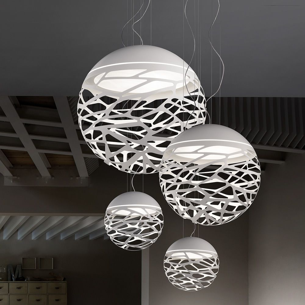 Kelly sphere designer suspension lamp in metal for Suspension metal
