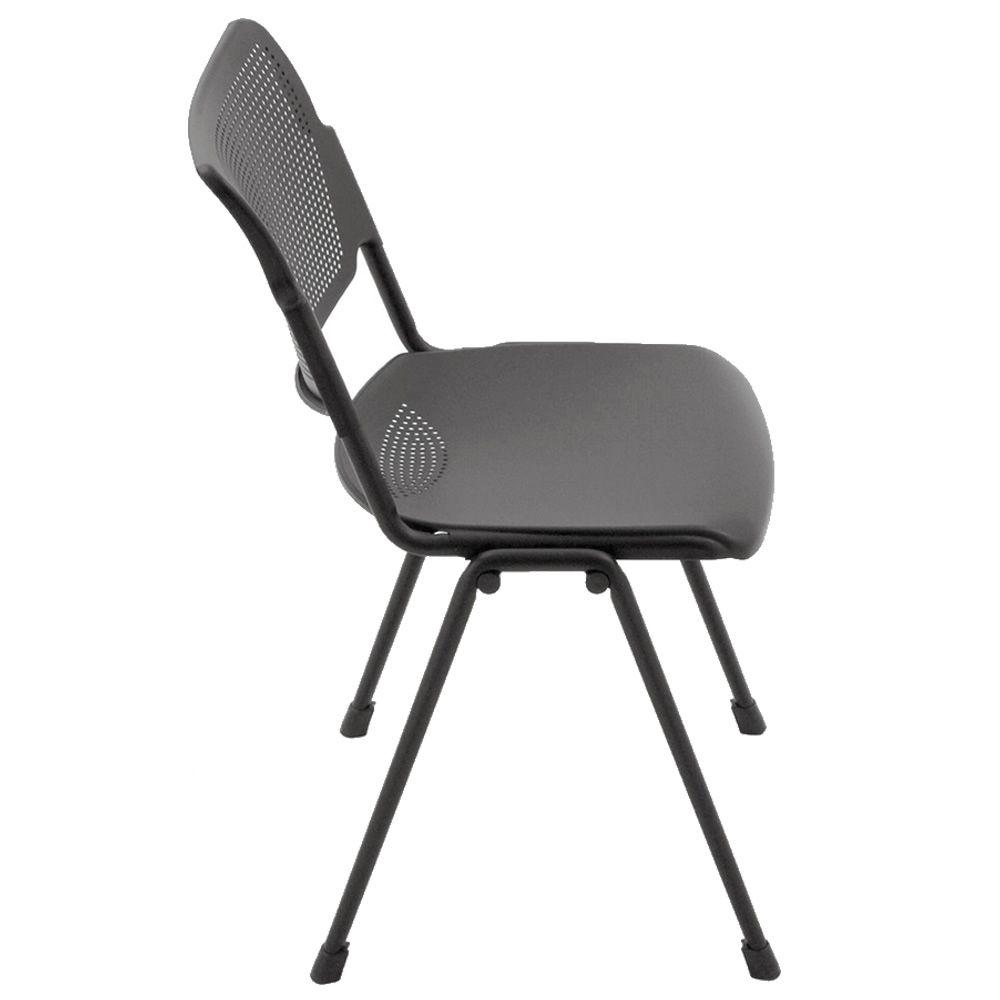 Ml104 chaise de salle d 39 attente ou de conf rence for Chaise plastique noir