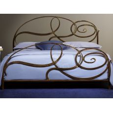 Capriccio - Double bed in wrought-iron, several colours available