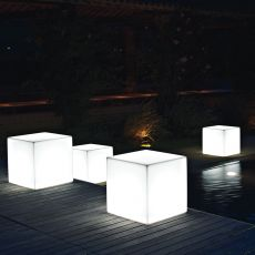 Pouf Star Light - Pouf in resin for gardens with interior light, different sizes