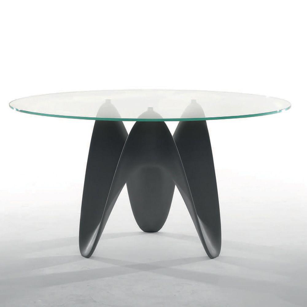 Gaya 8071 tavolo fisso tonin casa in tecnoril con piano in vetro diametro 120 cm sediarreda - Tavolo rotondo vetro diametro 120 ...