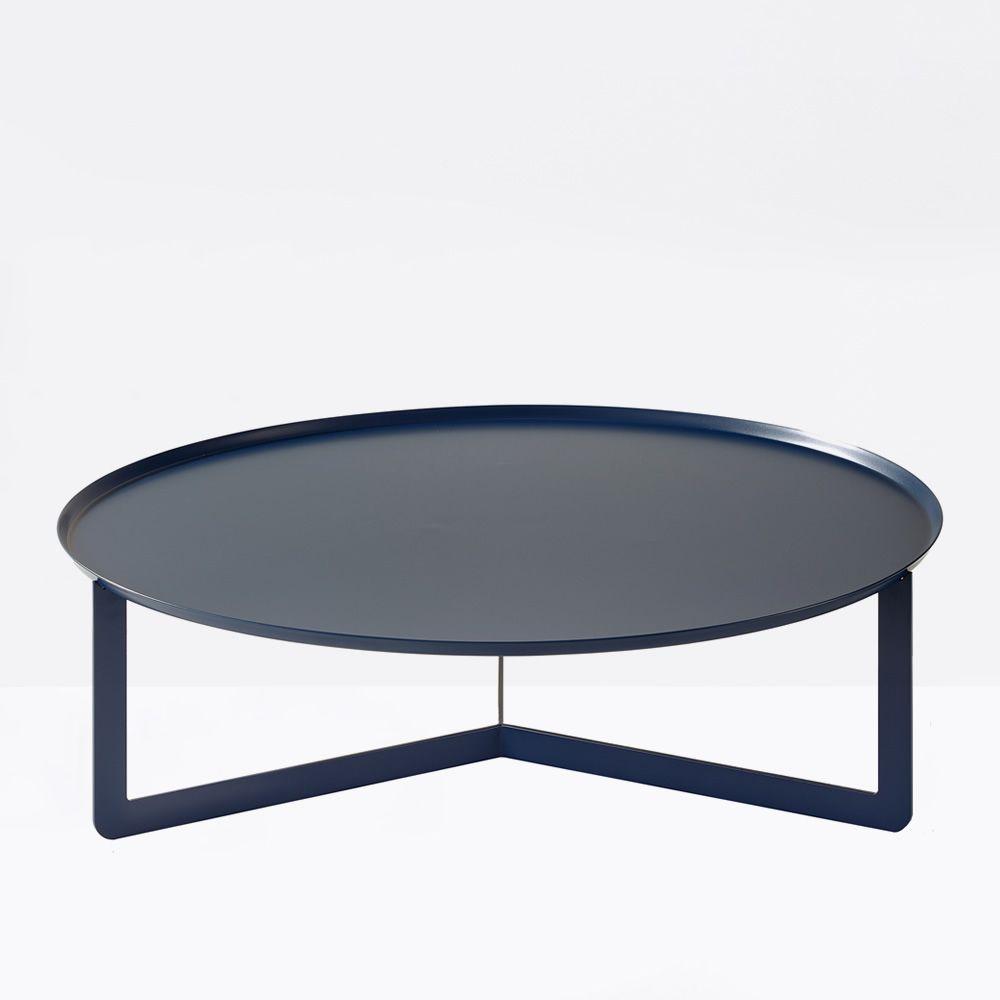 round2 runder beistelltisch aus metall in verschiedenen gr en verf gbar auch f r den garten. Black Bedroom Furniture Sets. Home Design Ideas