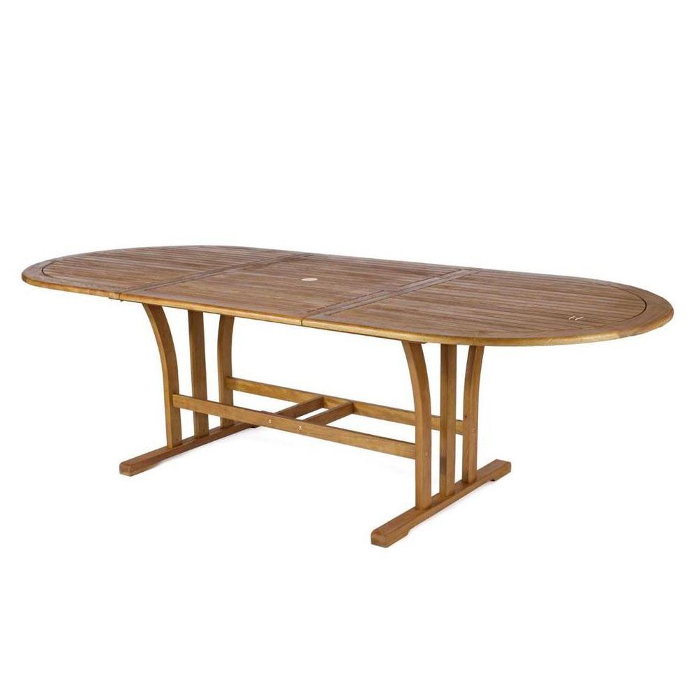tortuga t verl ngerbarer tisch aus balau holz ovale tischplatte 180x110 cm verf gbar f r. Black Bedroom Furniture Sets. Home Design Ideas