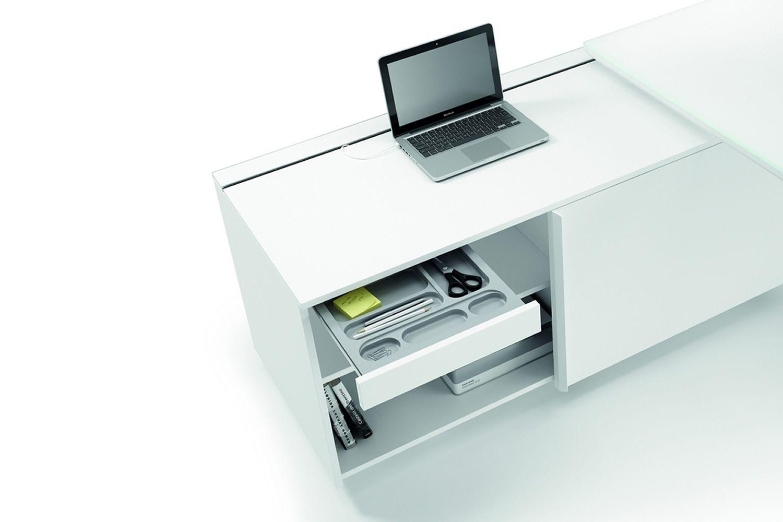 Scrivania Ufficio Misure : Office x8 01 scrivania direzionale con mobile di servizio in