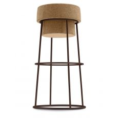 Bouchon - Domitalia metal stool, with cork seat, height at 66 cm or 76 cm