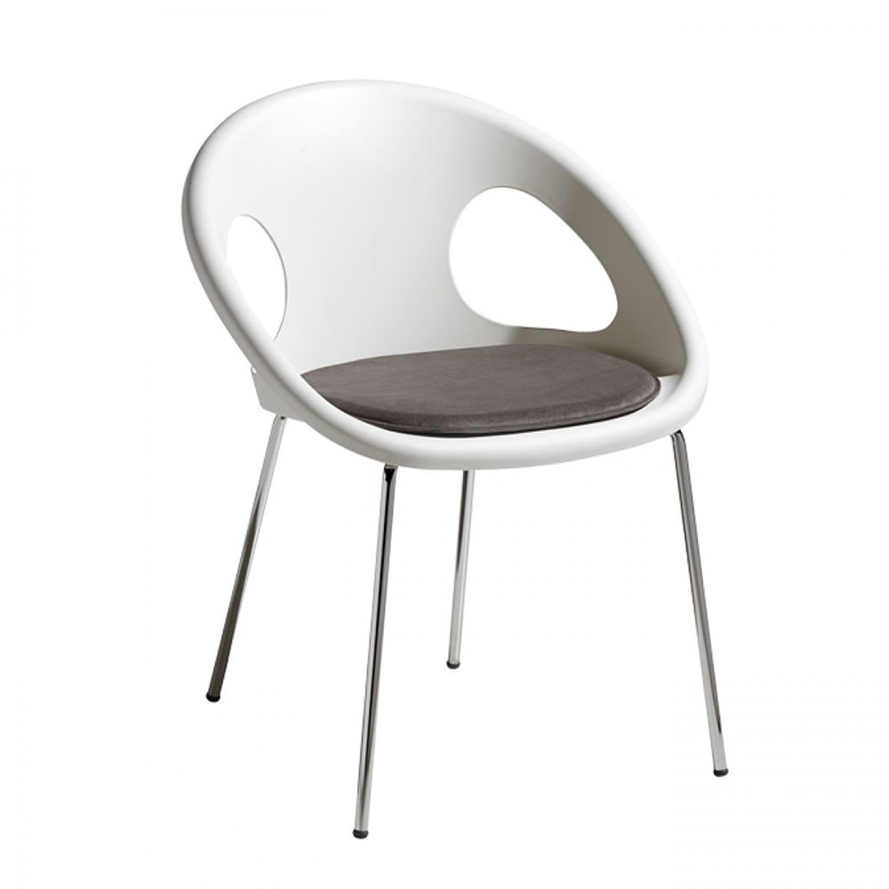 Drop 2682 chaise moderne en m tal et technopolym re empilable disponible e - Fauteuil moderne blanc ...