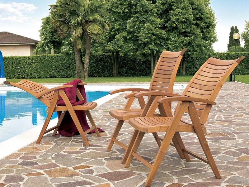 Mirage bf fauteuil pour jardin en bois robinier avec for Casa fauteuil jardin