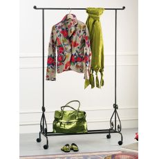 Stander - Dress rack made of iron, with small wheels, several colours