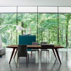 Flap - Verlängerbarer Tisch Dall'Agnese aus Furnierholz, in verschiedenen Farben und Abmessungen verfügbar