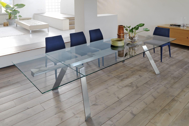 toronto a table midj structure en m tal verre ou bois plateau en verre 160x100 cm. Black Bedroom Furniture Sets. Home Design Ideas
