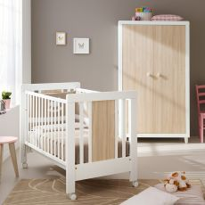 Anouk S - Pali wooden cot with drawer, bed slat base adjustable in height